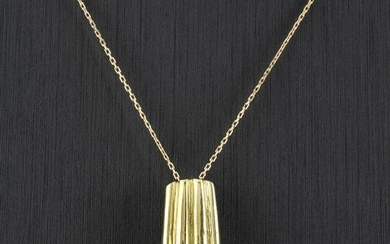 18 kt. Yellow gold - Necklace with pendant - 0.10 ct Diamond