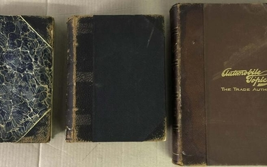 1901. 1907 1911 bound issues of Automobile Topics