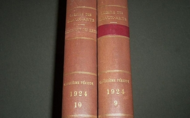 1924 GAZETTE DES BEAUX-ARTS FRENCH BOUND VOLUME LOT OF