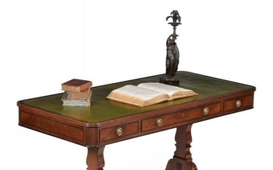 A Regency mahogany library or writing table, circa 1815