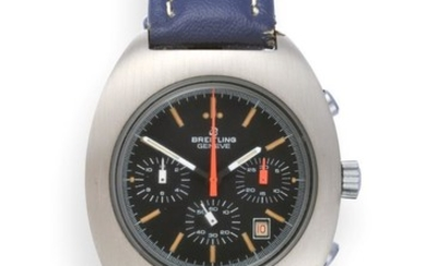 A Stainless Steel Chronograph Wristwatch, signed Breitling, model: Long Playing...