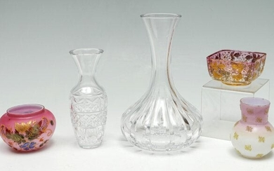 5 PC. CRYSTAL & GLASS COLLECTION