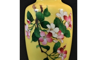 A Chinese cloisonne enamel ovoid vase, decorated with flower...