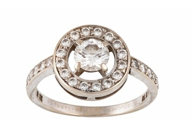 A DIAMOND CLUSTER RING BY BOUCHERON, the centre brilliant cu...