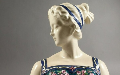 A FRENCH PORCELAIN BUST, head and shoulders of a lady.