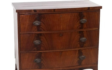 A Federal Mahogany Bow Front Chest.