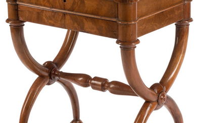 A French Empire Mahogany Hinge-Top Work Table (early 19th century)
