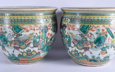 A GOOD PAIR OF 19TH CENTURY CHINESE FAMILLE VERTE FISH