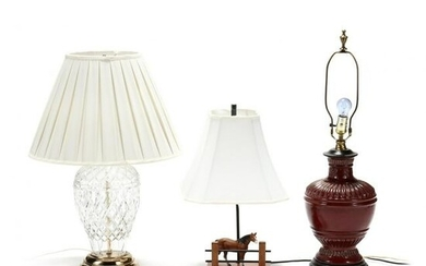 A Grouping of Three Lamps