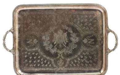 A NAPOLEON CIPHER TRAY WITH THE IMPERIAL BEE 19 C