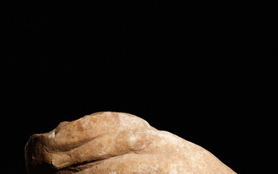 A Roman Marble Over-Lifesized Hand from a Statue