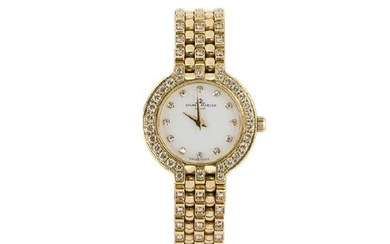 A lady's 18ct gold and diamond wristwatch,...