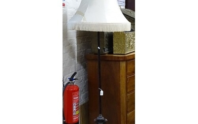 An Empire style standard lamp with metal liner and shade, H1...