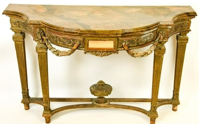 Antique French Neoclassical Style Console Table