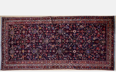 Antique Persian Malayer Pictorial Rug