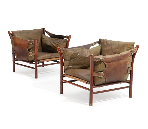 Stained Beech Frame Upholstered, Arne Norell Ilona Chair