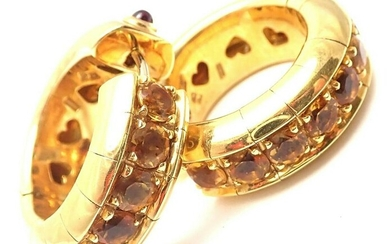 Authentic! Pasquale Bruni 18k Yellow Gold Citrine Ruby