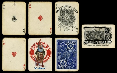 [Breweriana] Pabst Milwaukee Advertising Playing Cards.