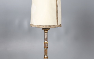 Charles IV altar candlestick in carved and gilt wood, circa 1800.