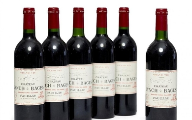 Chateau Lynch Barges 1990, 6 bottles, seals...