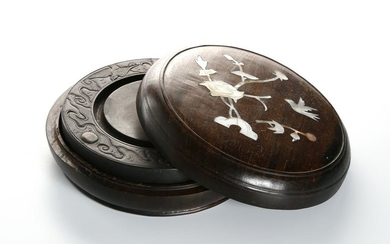 Chinese Mother of Pearl Inlaid Inkstone