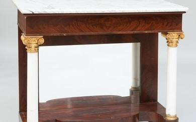 Classical Mahogany, Parcel-Gilt and Marble Console, New