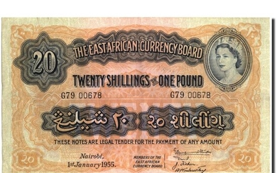 East Africa - 20 Shillings = 1 Pound 1955 - Paper