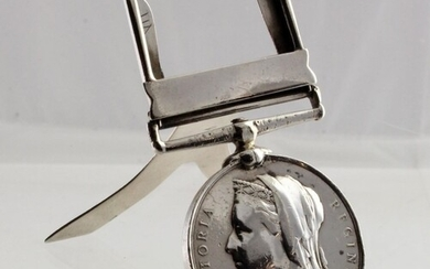 East and West Africa 1892 unmarked silver Campaign medal men...