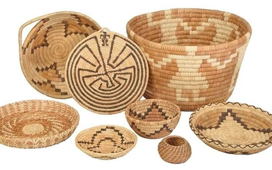 Eight Native American Baskets, Papago