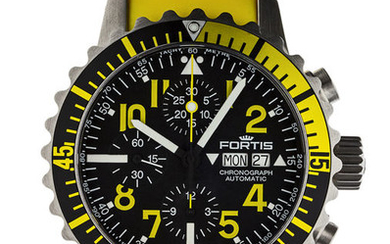 Fortis - B-42 Marinemaster Chronograph Yellow - 671.24.14 SI.04 - Men - 2011-present