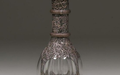 French Sterling Silver Overlay Bottle c1920s