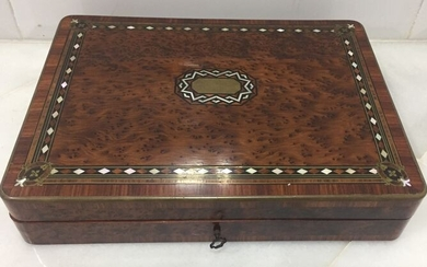 Game box (1) - Napoleon III Style - Brass, Kingwood, Mother of pearl, Thuya, Madreperla - Mid 19th century