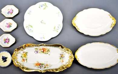 Group of vintage fine china or porcelain hand painted?