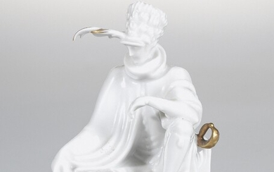Hertha Bucher, an officer, model number: 1581, model year: 1926, executed by Augarten Porcelain Manufactory, Vienna, before WWII