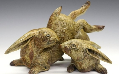 Japanese Pottery Rabbits