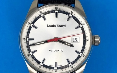 Louis Erard - Automatic Watch Heritage Collection Silver Dial Canvas Reversible Leather Strap Swiss Made- 69105AA11.BTD20 - Men - Brand New