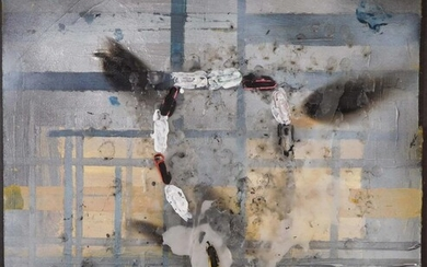 Manner of Robert Rauschenberg: Abstract Mixed Media Composition