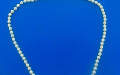 Mikimoto Cultured Essence Pearl Bead Strand and 14k