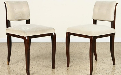 PR FRENCH AFRICAN MAHOGANY BOUDOIR CHAIRS C.1930