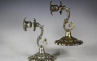 Pair Ornate French Style Wall Sconces