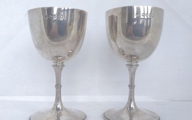 Pair of Victorian Goblets(2) - .925 silver - Richard Sibley II, London - England - 1871