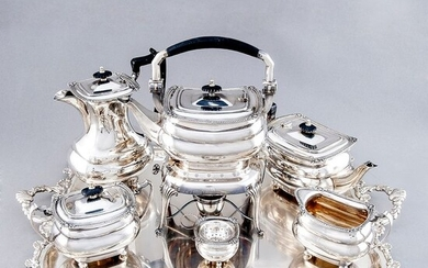 Pasgorcy - Coffee and tea service, (5.350 gr silver) - First half 20th century