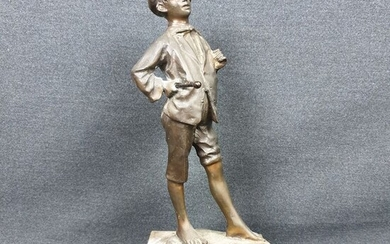 "Sculpture, boy ""Ga Ga"" - Bronze - Second half 20th century"