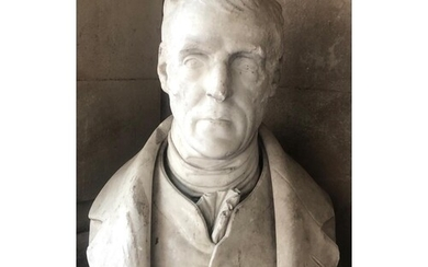 THE DUKE OF WELLINGTON, A 19TH CENTURY LIFE SIZE CARVED WHIT...