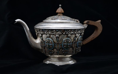 Teapot - .875 (84 Zolotniki) silver - Russia - Early 20th century