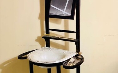 Thonet style bathroom cabinet with appliances
