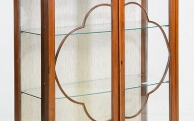 Walnut Ball & Claw Display Cabinet