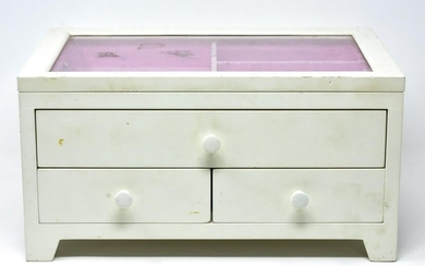 White Painted Contemporary Jewelry Box