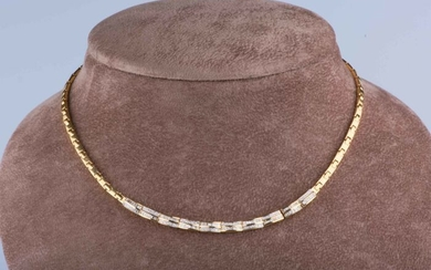 Yellow gold - Necklace Diamond