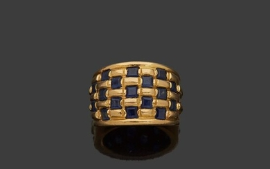 Yellow gold ring, 18k yellow gold 750‰, with...
